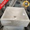 Wastafel marmer tulungagung kotak putih dinding halus asli batualam