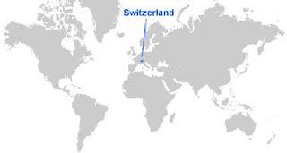 Gambar Peta letak Swiss