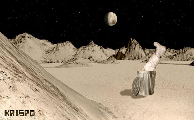 basura en la luna