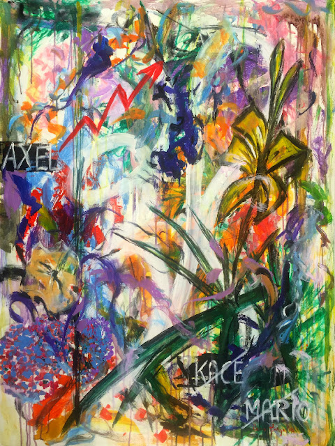 Oana-Singa-Musing-in-Her-Garden-2018-acrylic-on-canvas-40x30inches