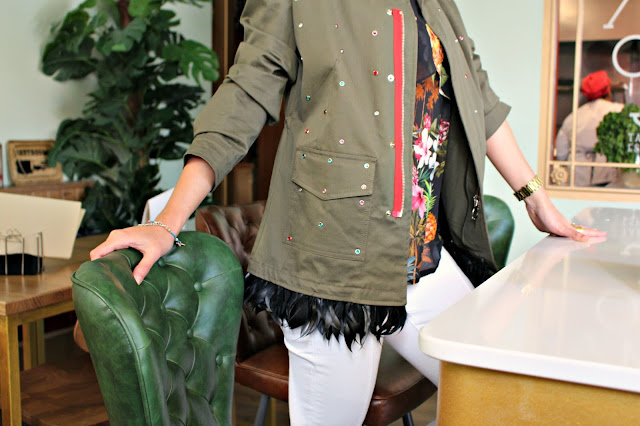 Fitness And Chicness-Pinko Military Feather Jacket Aracne-3