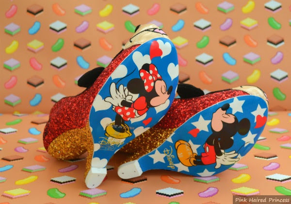 minnie and mickey mouse shoe soles