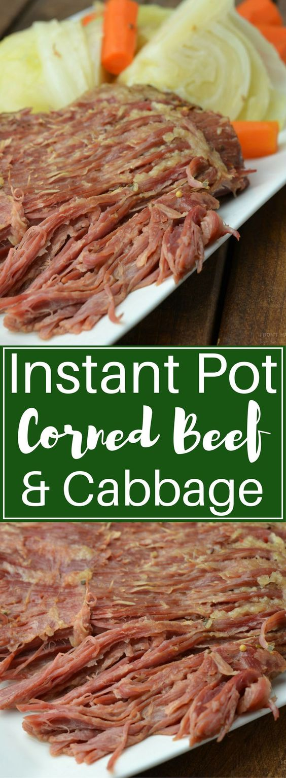 Instant Pot Corned Beef and Cabbage Recipes