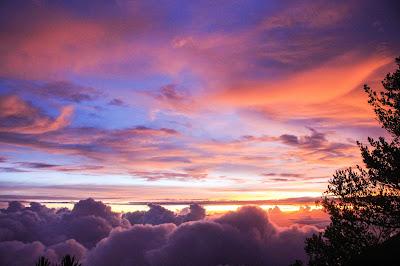 keindahan sunset sore itu