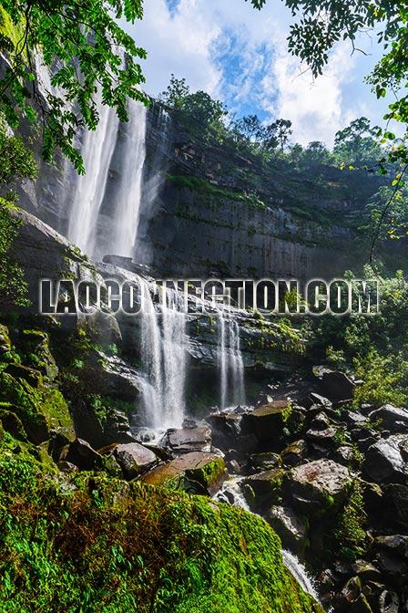 Tat Huay Ping Waterfall Champassak Laos