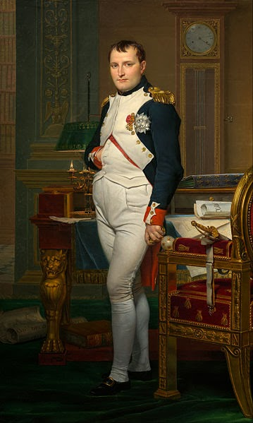 The Emperor Napoleon in His Study at the Tuileries by Jacques-Louis David, 1812