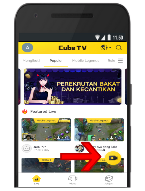 Live Streaming di Cube TV