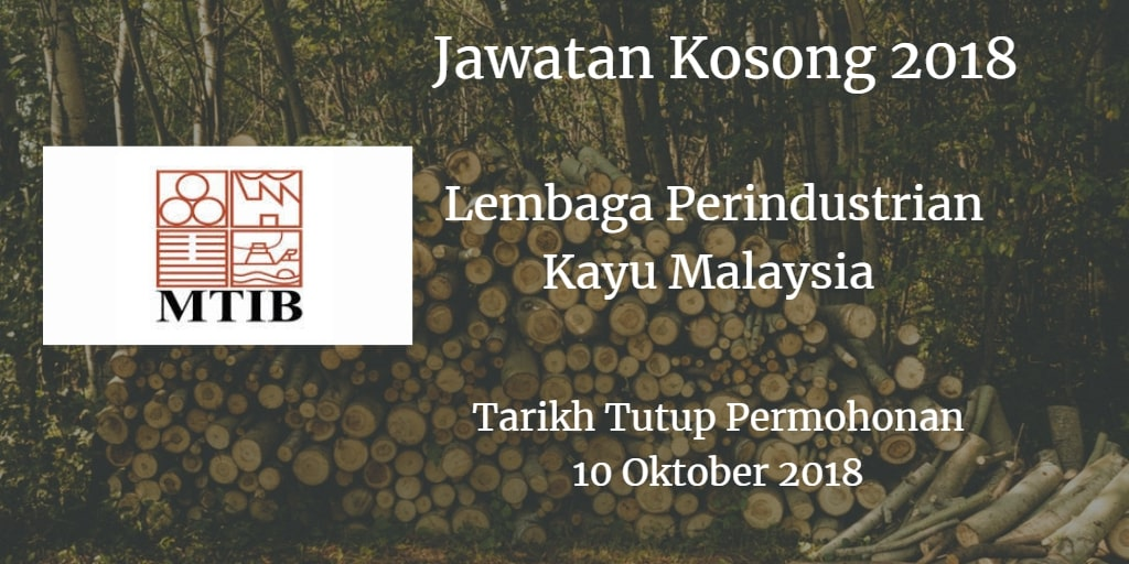 Jawatan Kosong MTIB 10 Oktober 2018