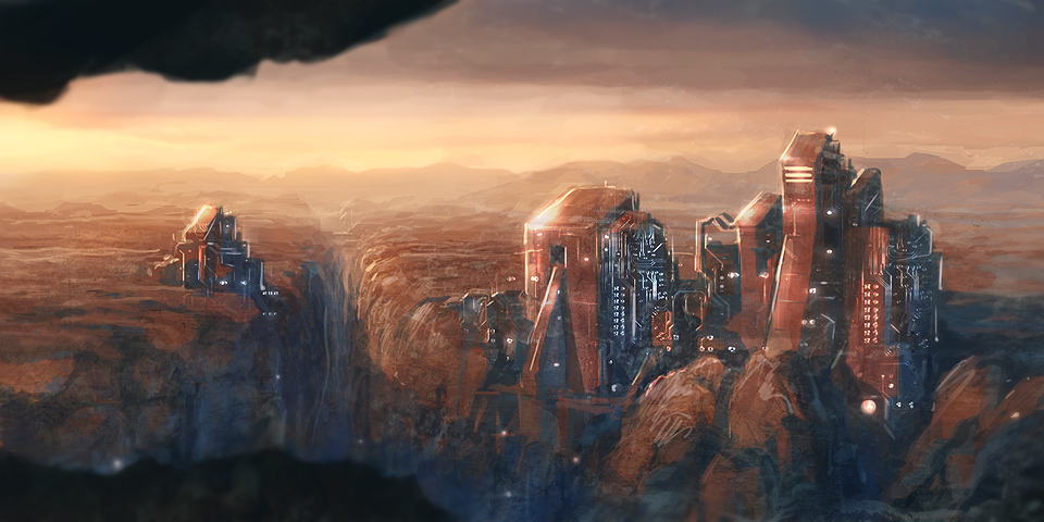 Mars colony by Tomas Honz