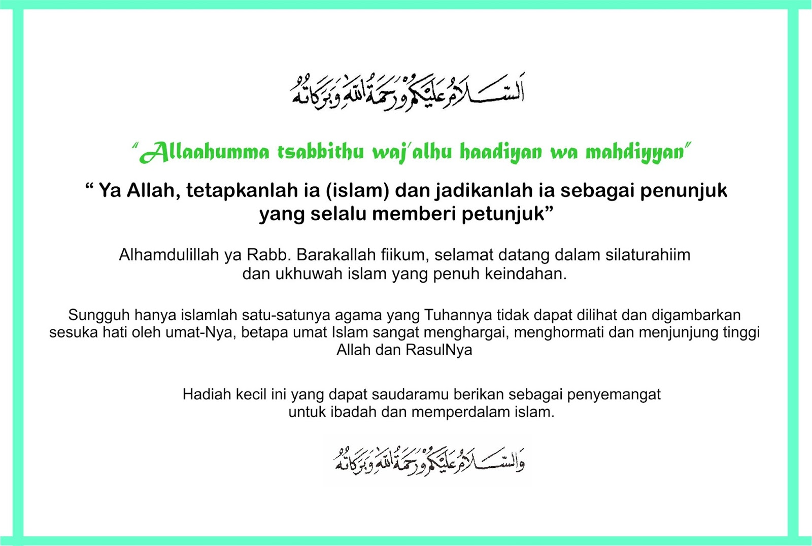 Kartu Ucapan Untuk Saudara Yang Baru Masuk Islam Taupikwida Blog