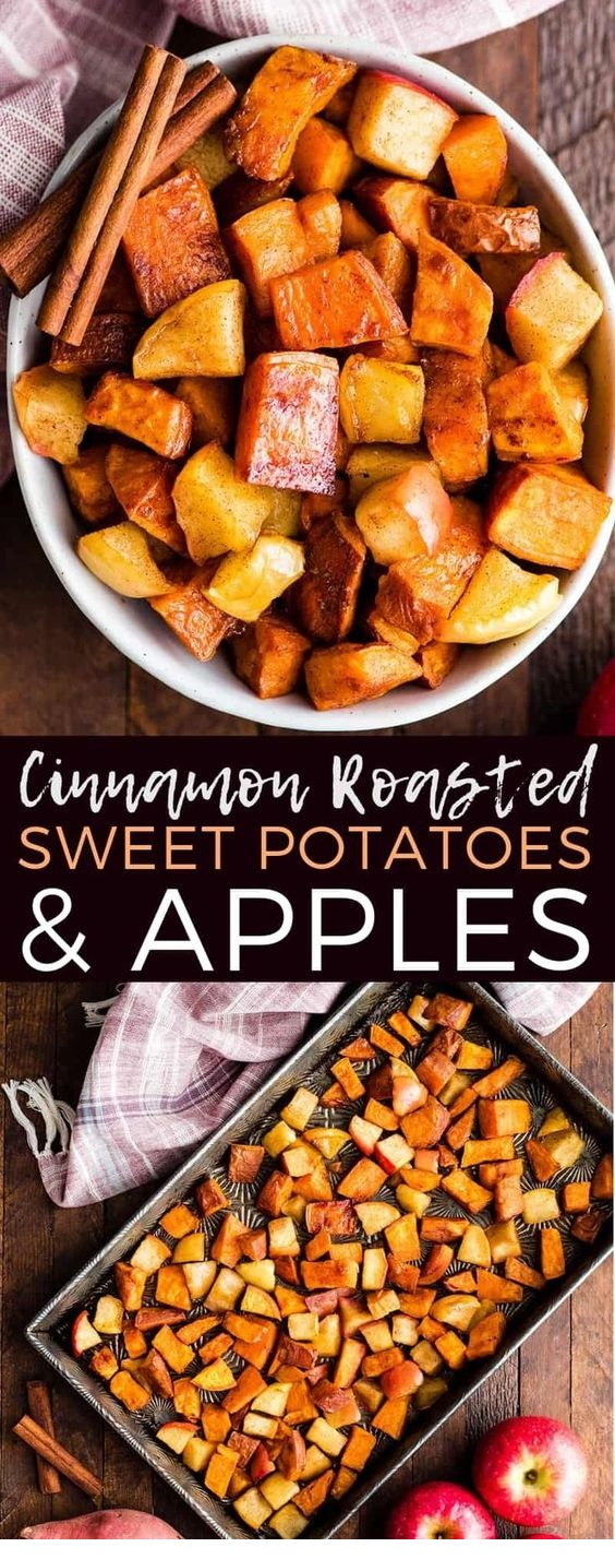 Cinnamon Roasted Sweet Potatoes and Apples