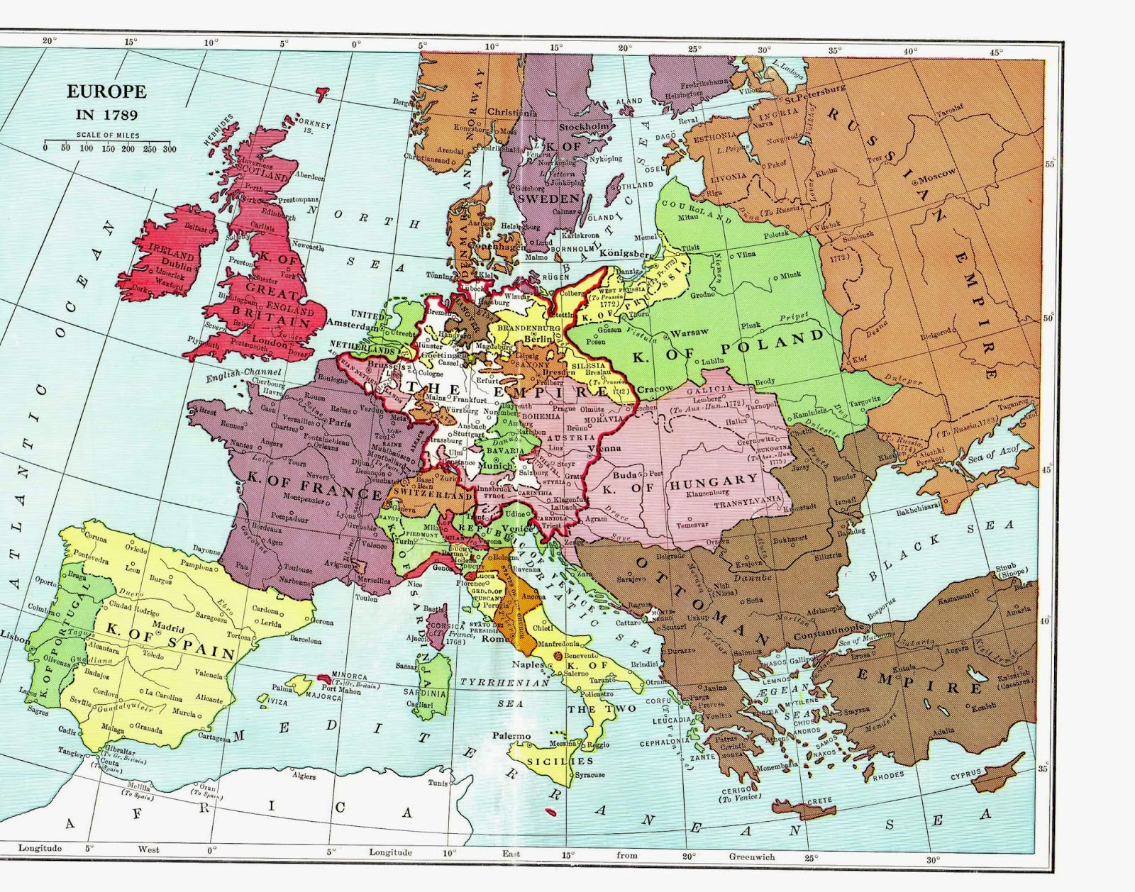 french revolution map of europe Europe on the eve of the French Revolution   Vivid Maps