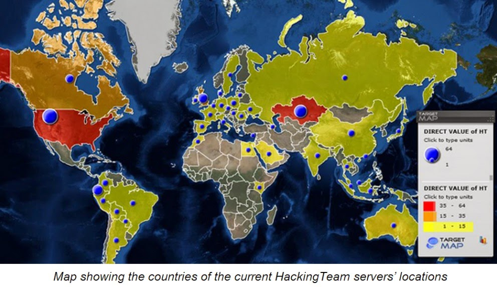 HackingTeam servers location