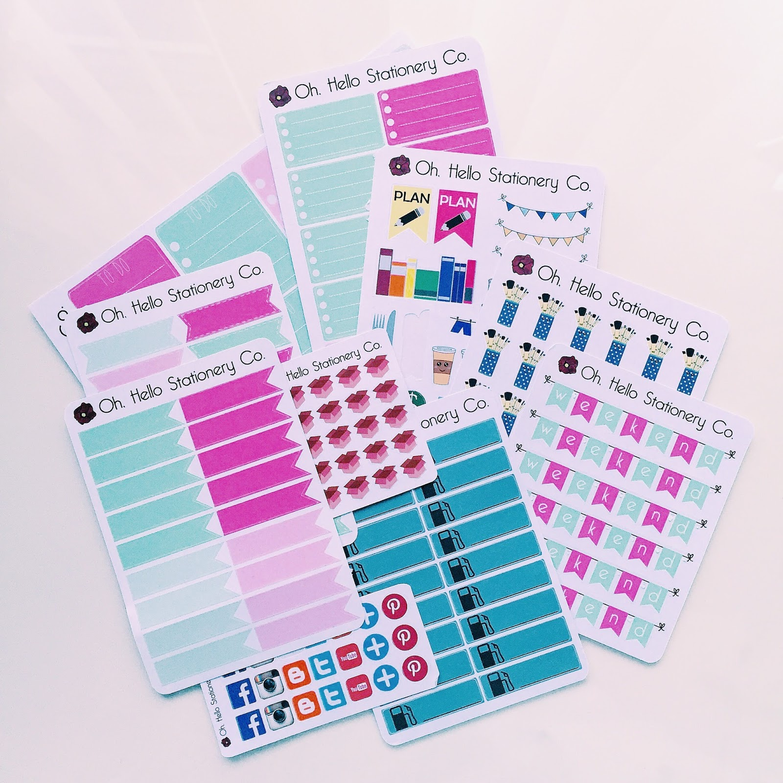 etsy planner sticker haul oh hello stationery co