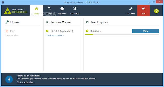 تحميل برنامج تسريع النظام وتنظيف الرجيستري RogueKiller 12.0.3.0