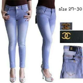 Celana Jeans Wanita murah, celana channel wanita