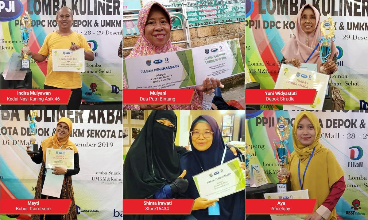 UMKM MAPAN Pancoran Mas Depok Mendominasi Juara Lomba Kuliner
