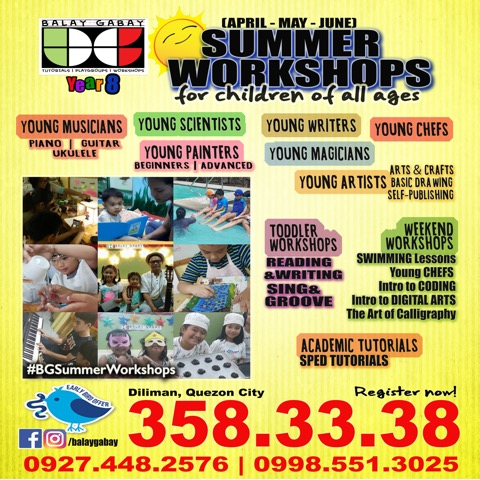2019 Summer Workshops, Sports Clinics, Classes, and Activities for Kids in Metro Manila