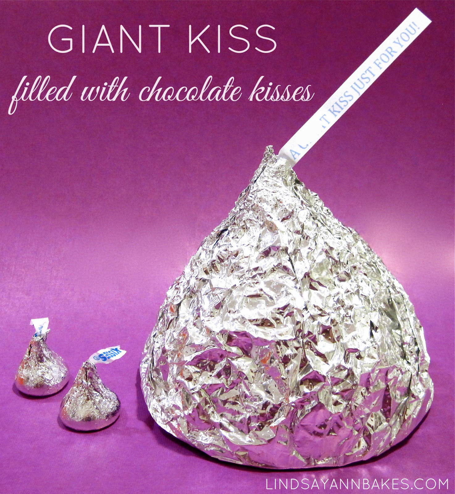 Short Sweet I Love You Quotes: Giant Chocolate Kiss (made Of Hershey's Kisses)