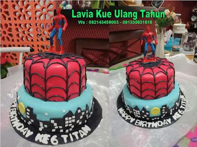 Kue Tart ulang tahun Spiderman