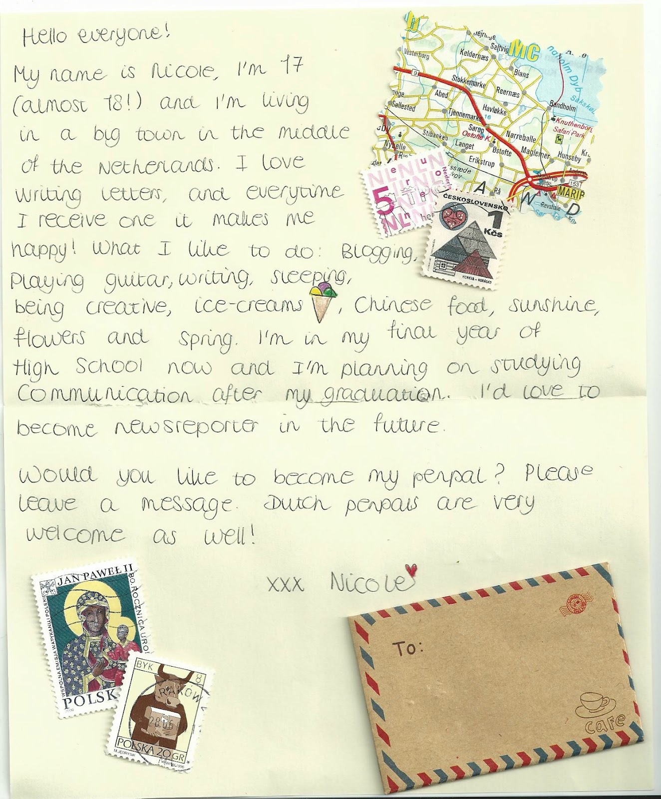 A Flood of Memories: Pen pal call #11 Nicole