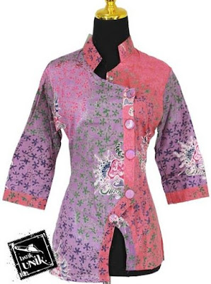 Baju Batik Modern 2 Motif Untuk Pesta
