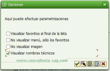 Opciones de visualizacion SAP Easy Access