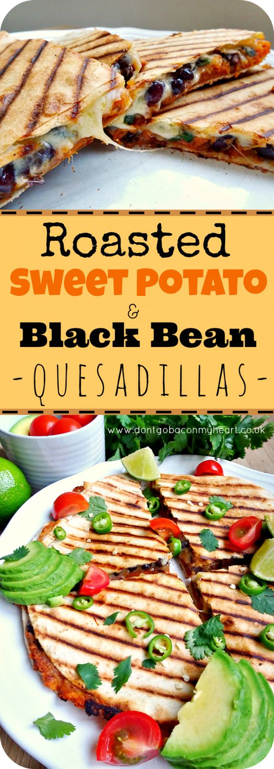 Roasted Sweet Potato and Black Bean Quesadillas #sweetpotato #potatoes #blackbeen #quesadillas #vegetarianrecipes