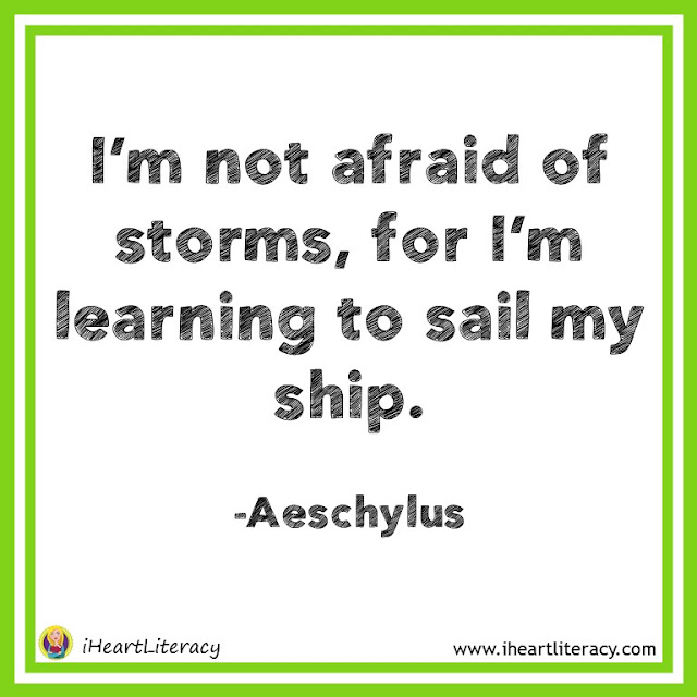 I'm not afraid of storms, for I'm learning to sail my ship. #inspiration