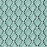 Eyelet Lace 81: Openwork Diamonds | Knitting Stitch Patterns.