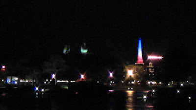 EPCOT Eiffel Tower Lit In Tricolor After Paris Attacks