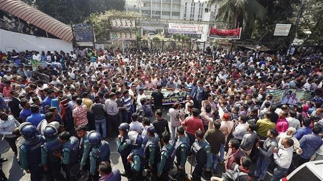Huge protest in Bangladesh against jailing of opposition leader Khaleda Zia