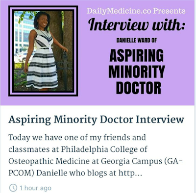 Interviewed by Daily Medicine Blog!