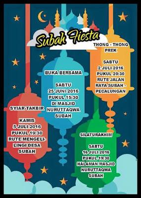 [Event] Batang | Subah Fiesta | Subah Fiesta Ramadhan dan idhul Fitri 2016