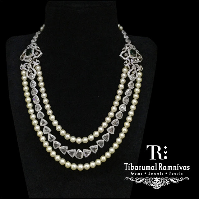 Two Layers Pearls set by Tibarumal Jewels