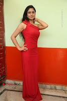 Actress Zahida Sam Latest Stills in Red Long Dress at Badragiri Movie Opening .COM 0040.JPG