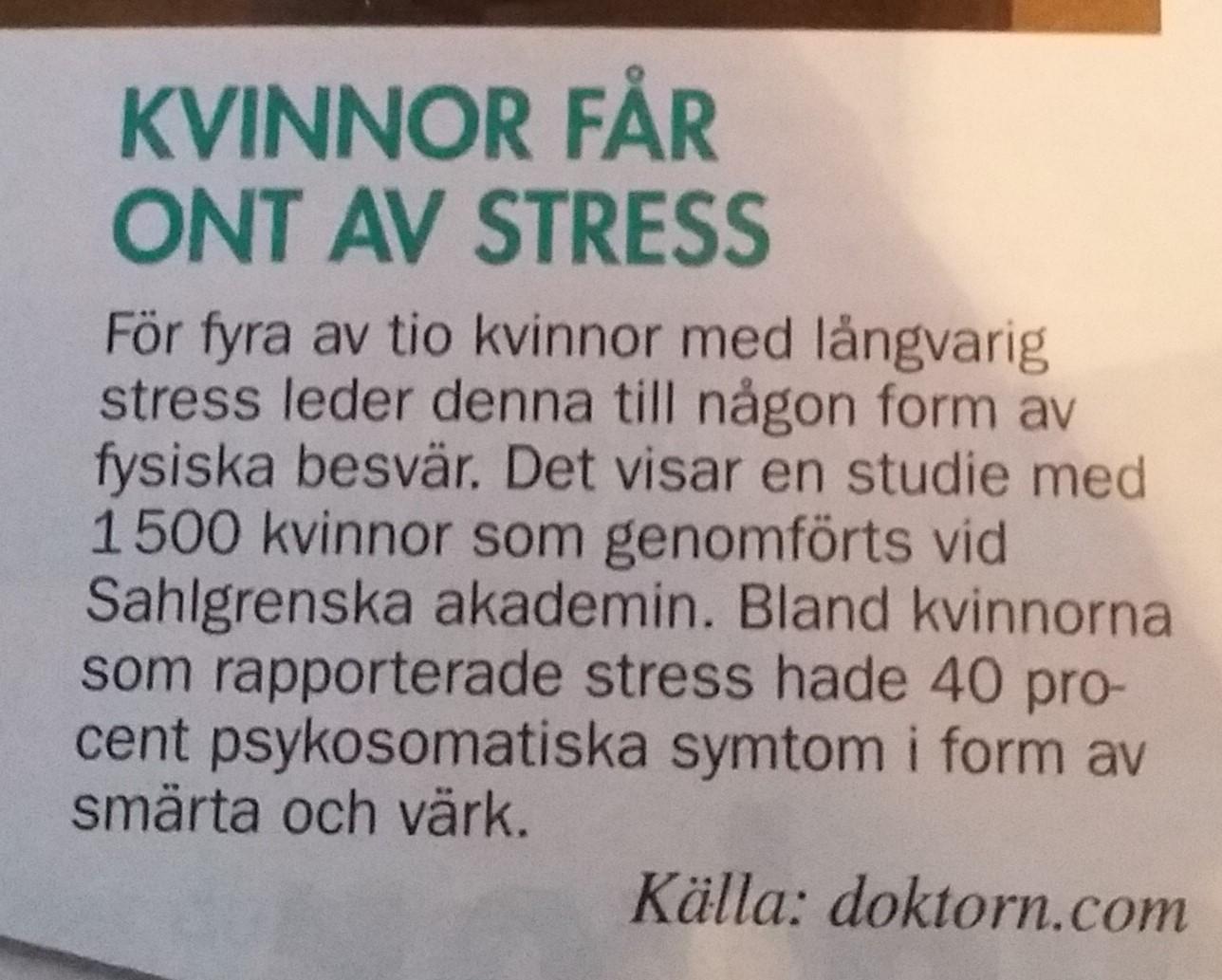 ont i kroppen stress