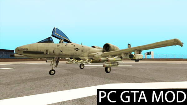 Free Download  A-10A Thunderbolt II  Mod for GTA San Andreas.