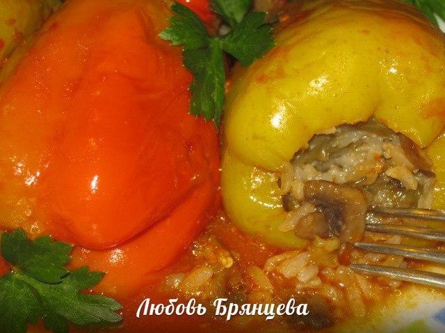 как приготовить перец фаршированный баклажанами
