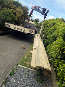 Decking timber arriving