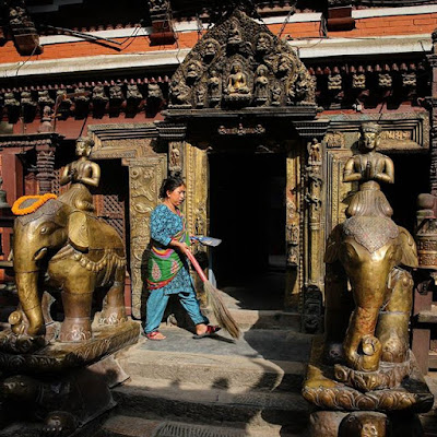 Templo hinduista en Katmandú