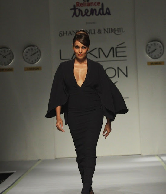 Bipasha Basu in black color dress
