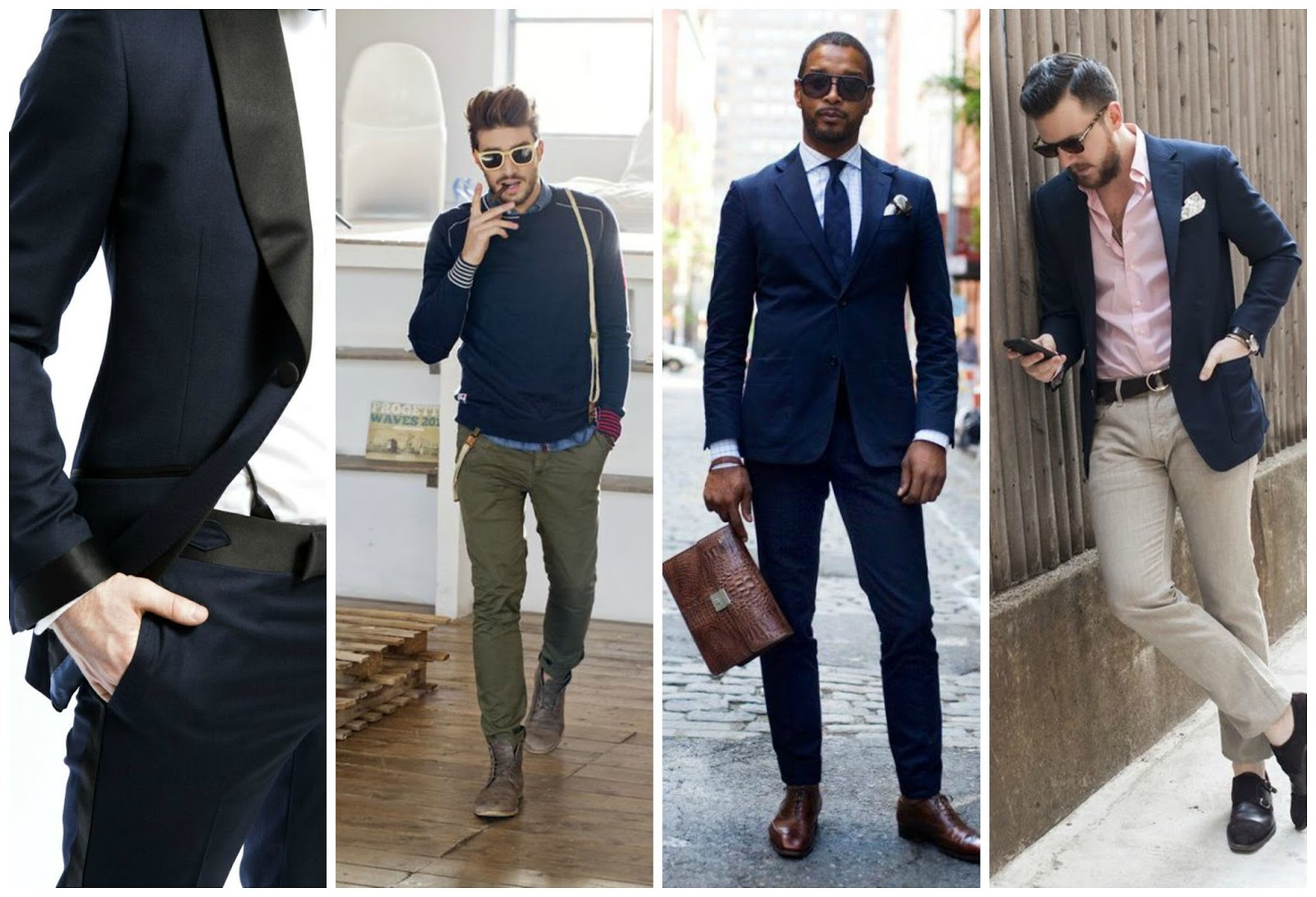 MENSWEAR | NAVY IS THE NEW BLACK . the urban man wears blue suit white shirts brown tie pocket square sexy classy look mens style in the streets