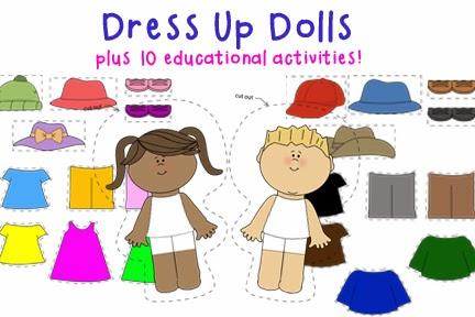 Dress Up Dolls: Educational Paper Dolls