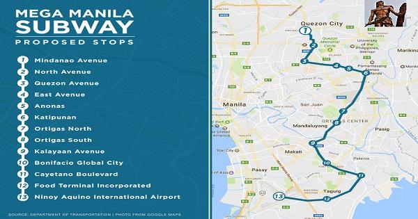 Mega Manila Subway Map.Beyond 666 Duterte Captain Barbell Is Falling