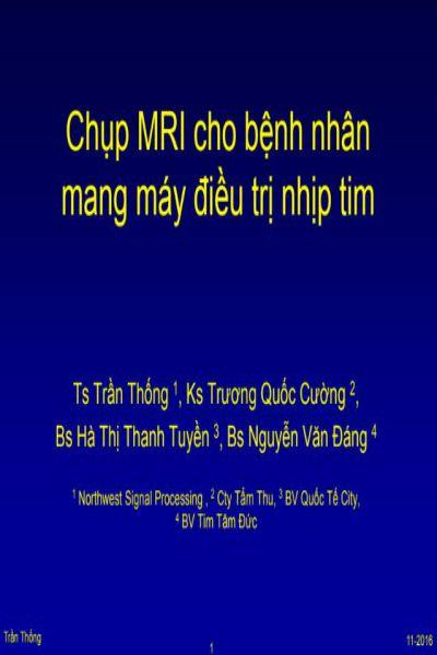 15   chup MRI cho benh nhan mang may dieu tri nhip tim