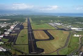 Piste de l'aéroport de GUADELOUPE vue du ciel
