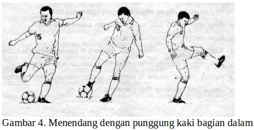Teknik menendang bola dengan punggung kaki bagian dalam