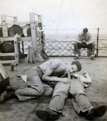 American and soviet sailors tied up 3