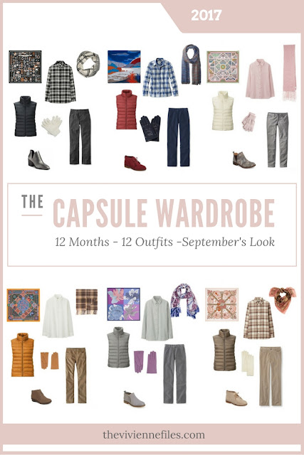 Build a Capsule Wardrobe in 12 Months, 12 Outfits - September 2017